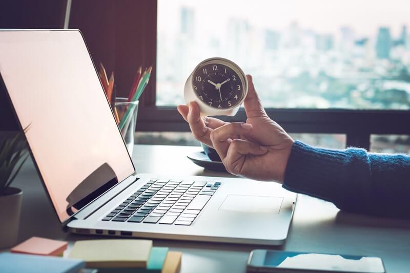 gestão de tempo dentro da agência